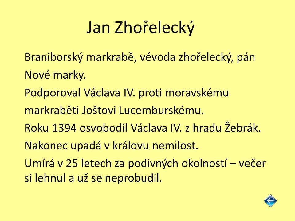 Jan Zhořelecký Braniborský markrabě, vévoda zhořelecký, pán