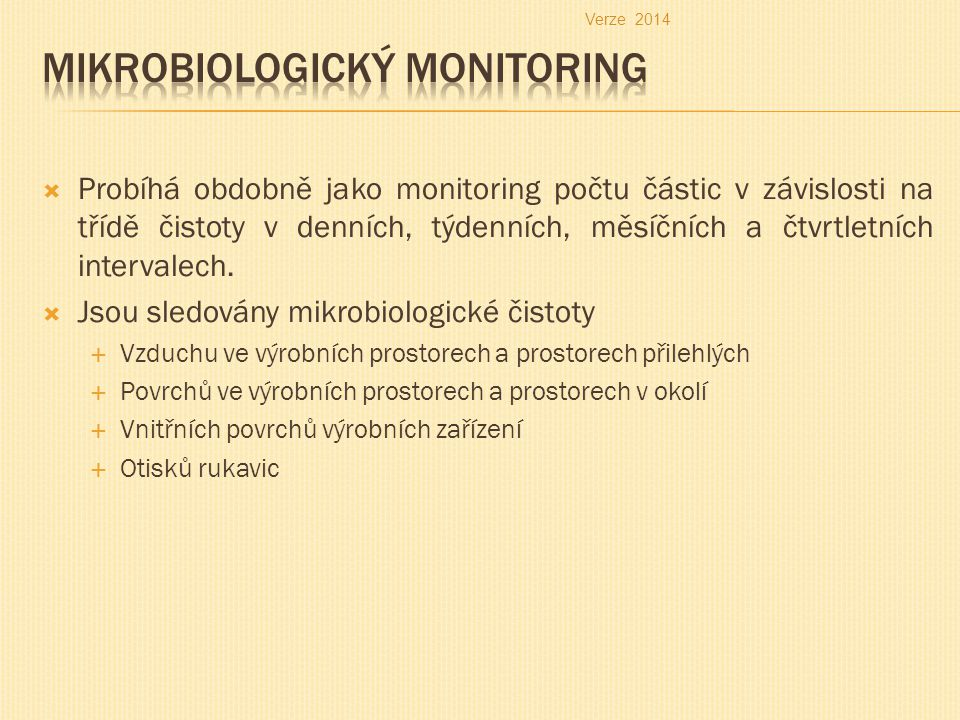 Mikrobiologický monitoring