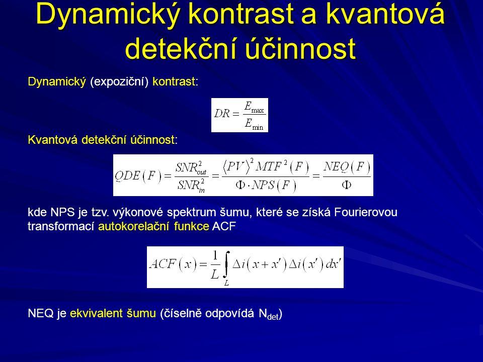 Dynamický kontrast a kvantová detekční účinnost
