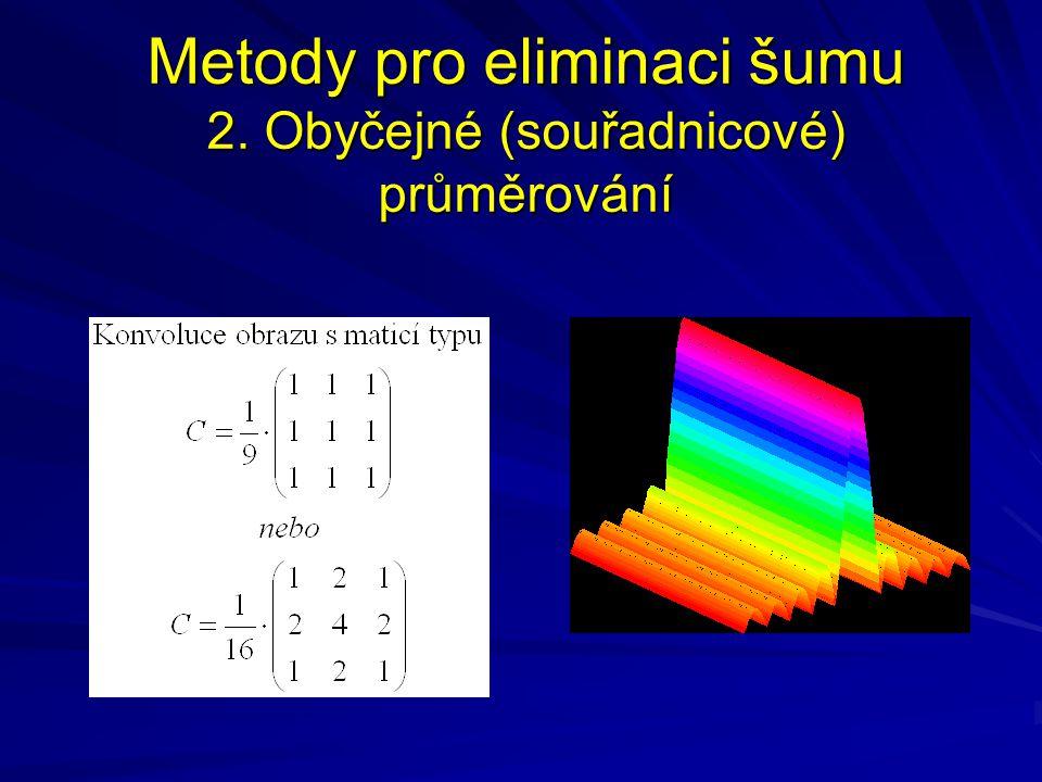 Metody pro eliminaci šumu 2. Obyčejné (souřadnicové) průměrování