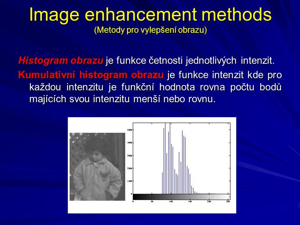 Image enhancement methods (Metody pro vylepšení obrazu)