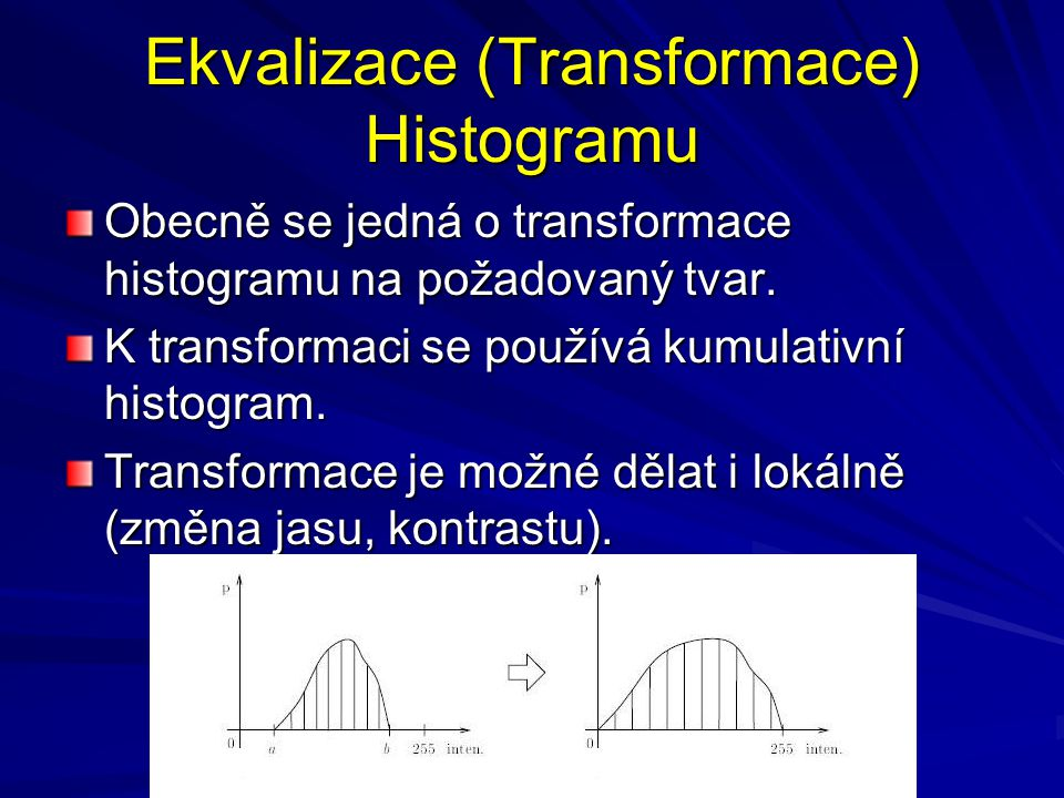 Ekvalizace (Transformace) Histogramu