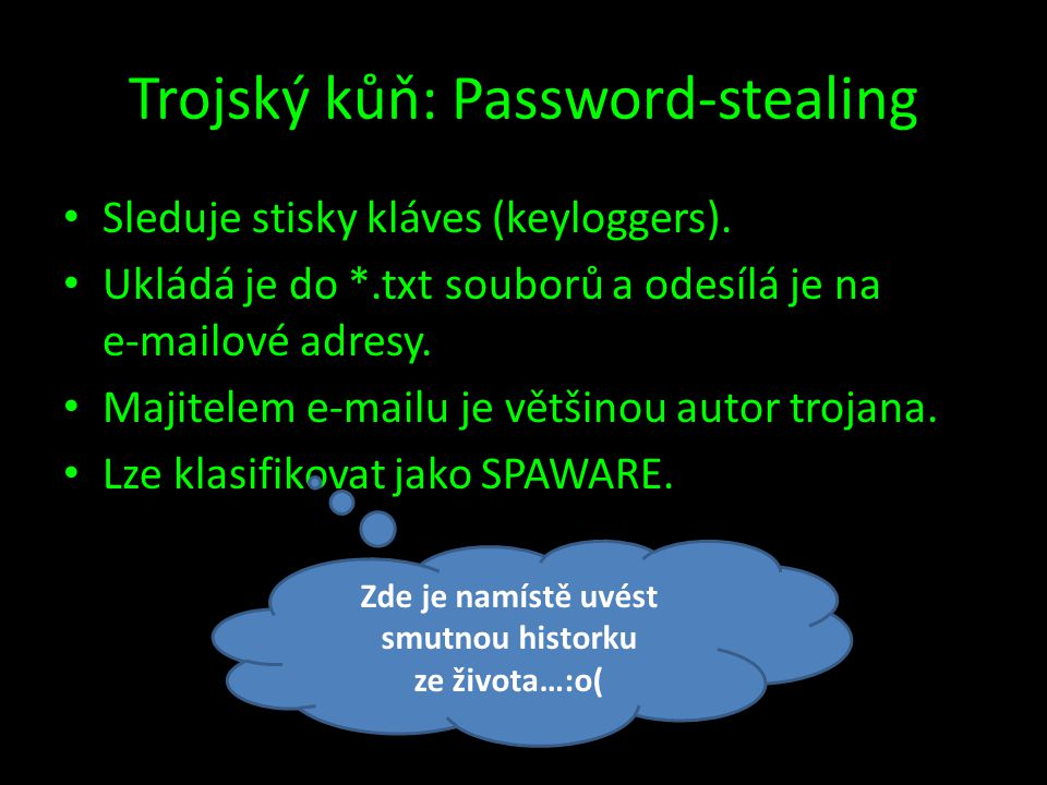 Trojský kůň: Password-stealing