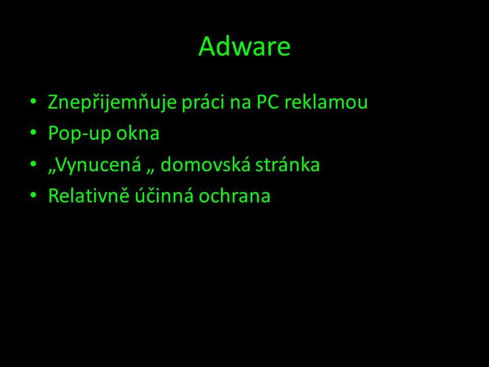 Adware Znepřijemňuje práci na PC reklamou Pop-up okna
