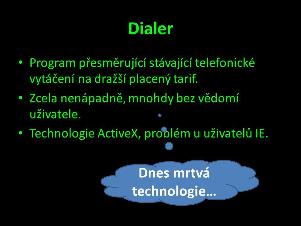 Dnes mrtvá technologie…