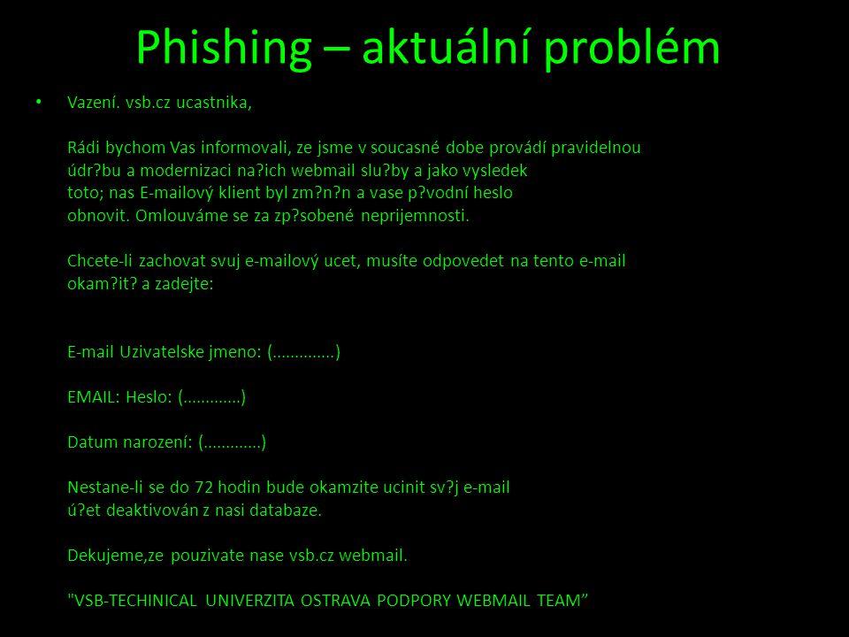 Phishing – aktuální problém