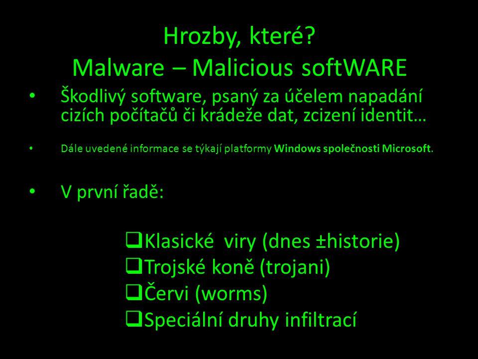 Hrozby, které Malware – Malicious softWARE