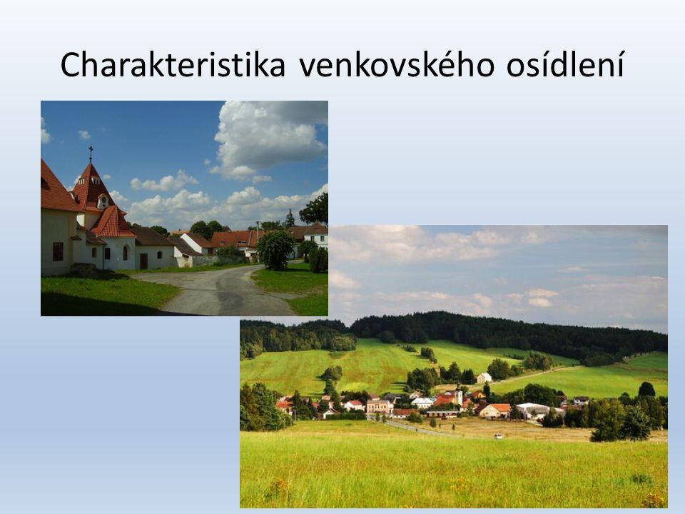 Charakteristika venkovského osídlení