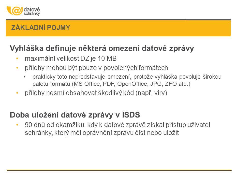 Vyhláška definuje některá omezení datové zprávy