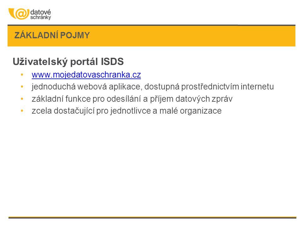 Uživatelský portál ISDS