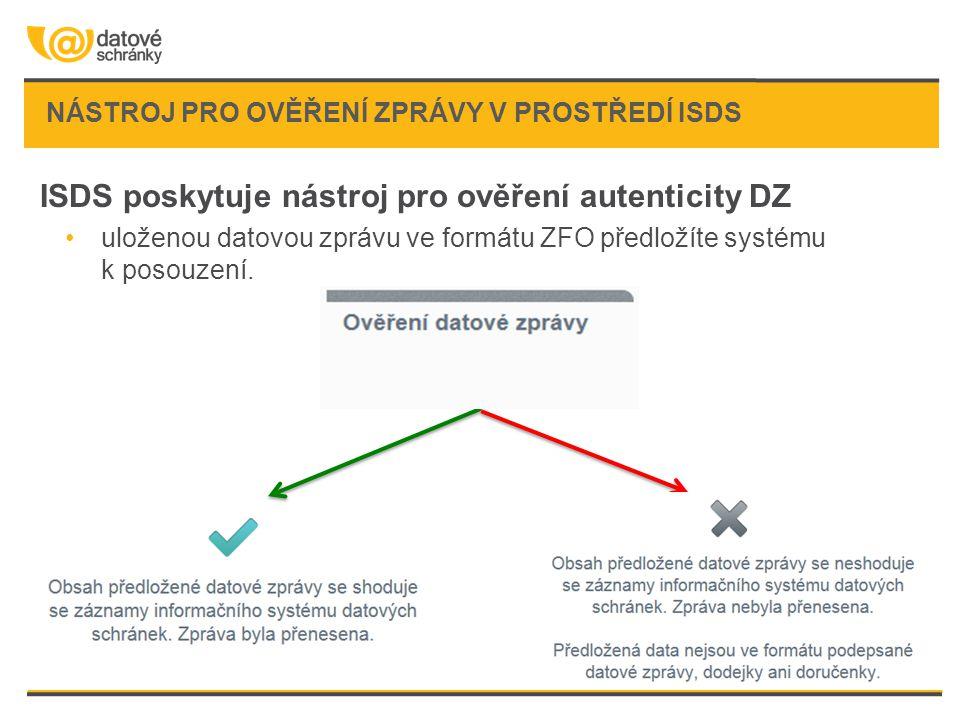nástroj pro ověření zprávy v prostředí ISDS