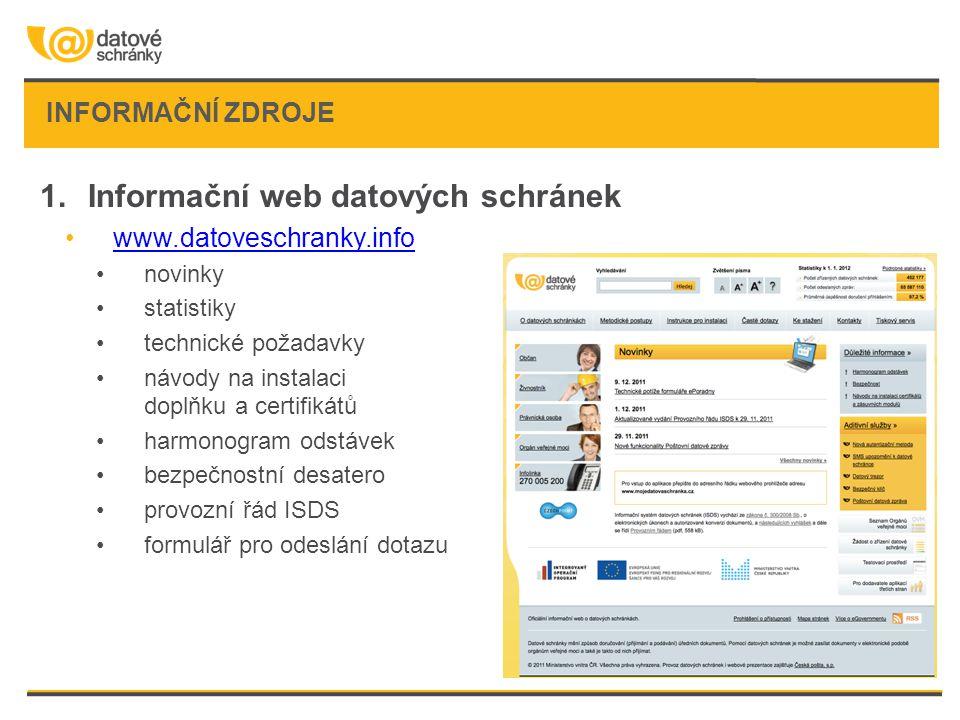 Informační web datových schránek