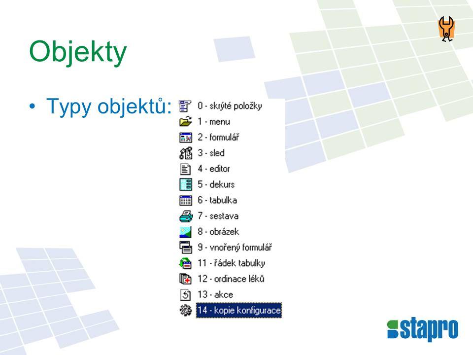 Objekty Typy objektů: