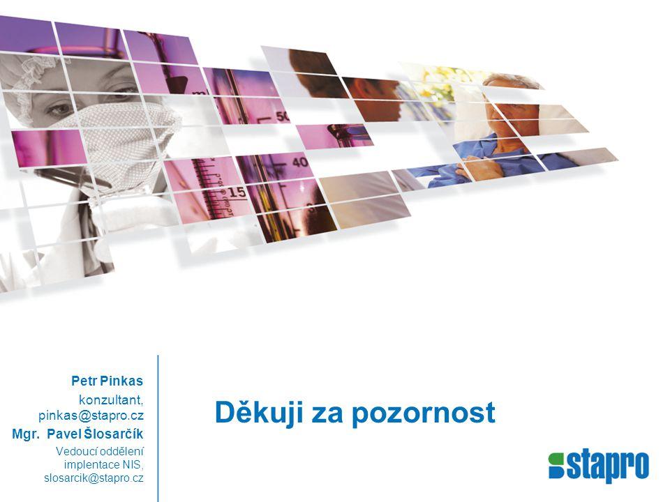 Děkuji za pozornost Petr Pinkas konzultant, pinkas@stapro.cz