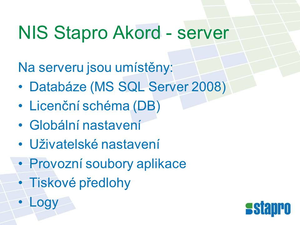 NIS Stapro Akord - server