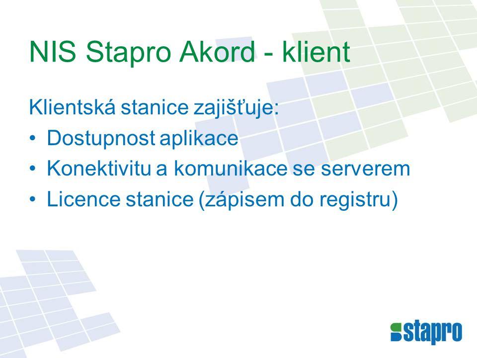 NIS Stapro Akord - klient