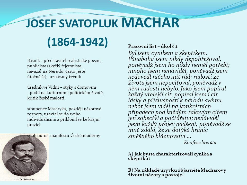 JOSEF SVATOPLUK MACHAR (1864-1942)