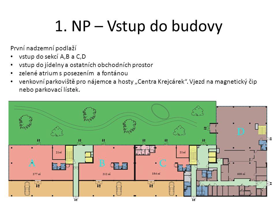 1. NP – Vstup do budovy První nadzemní podlaží