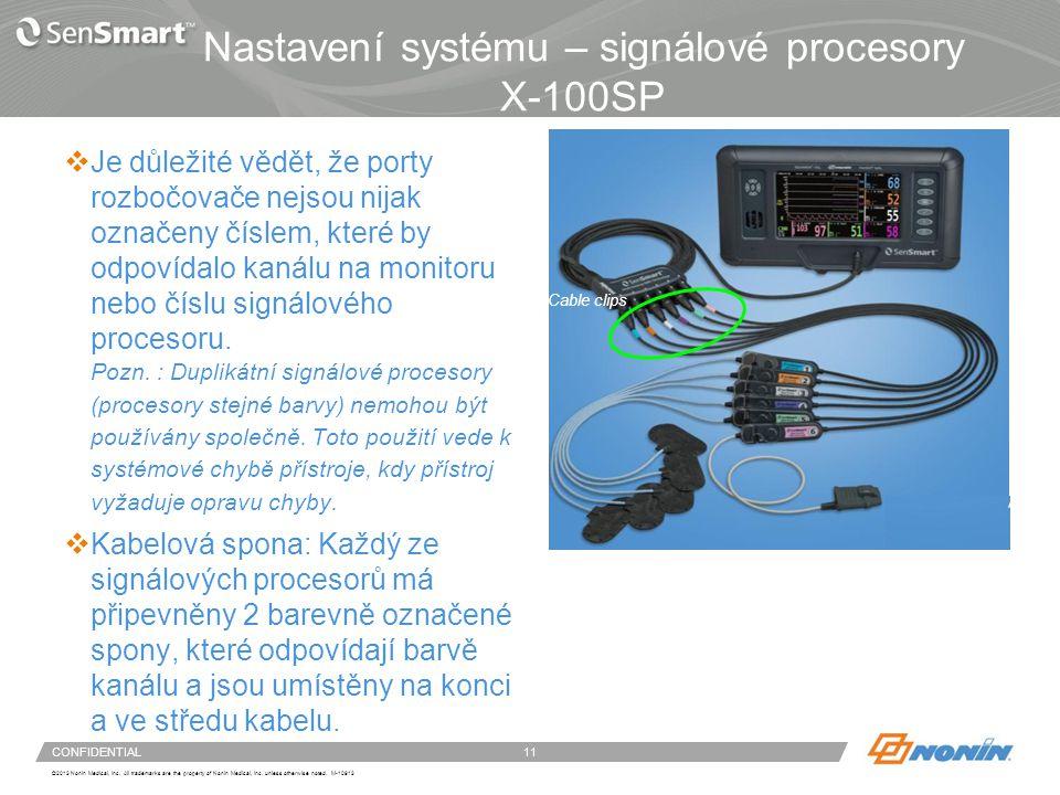 Nastavení systému – signálové procesory X-100SP