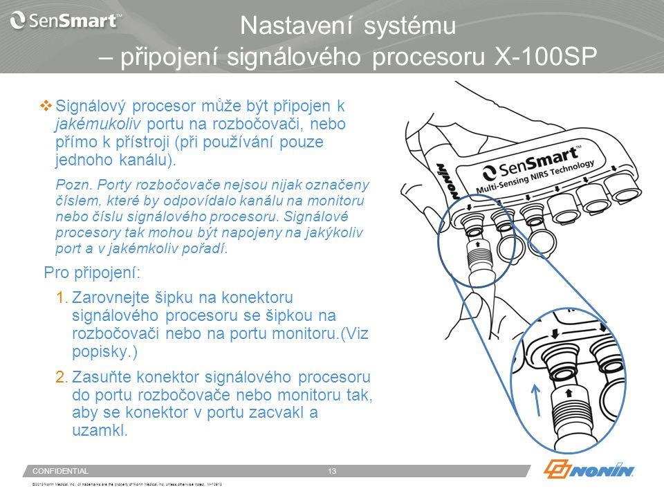Nastavení systému – odpojení signálových procesorů X-100SP