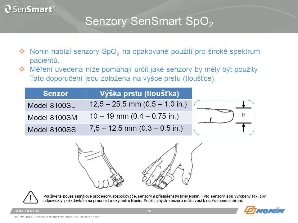 Nastavení systému – připojení a odpojení senzoru