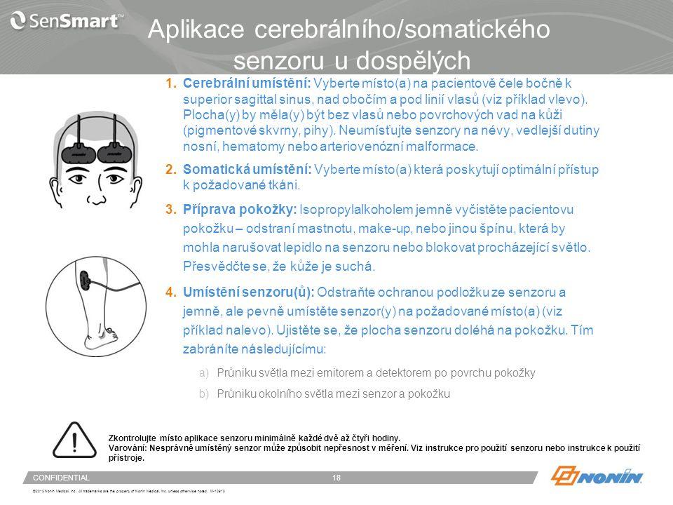 Aplikace neonatálních / pediatrických senzorů