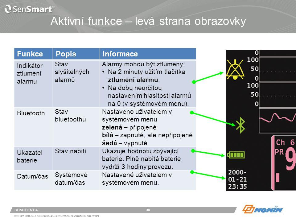 Konfigurace systému – menu a obrazovky