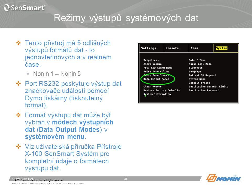 Systémové menu - pokračování
