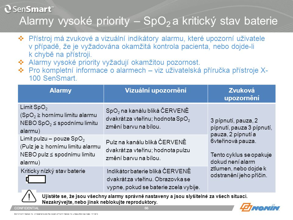 Alarmy střední priority – rSO2