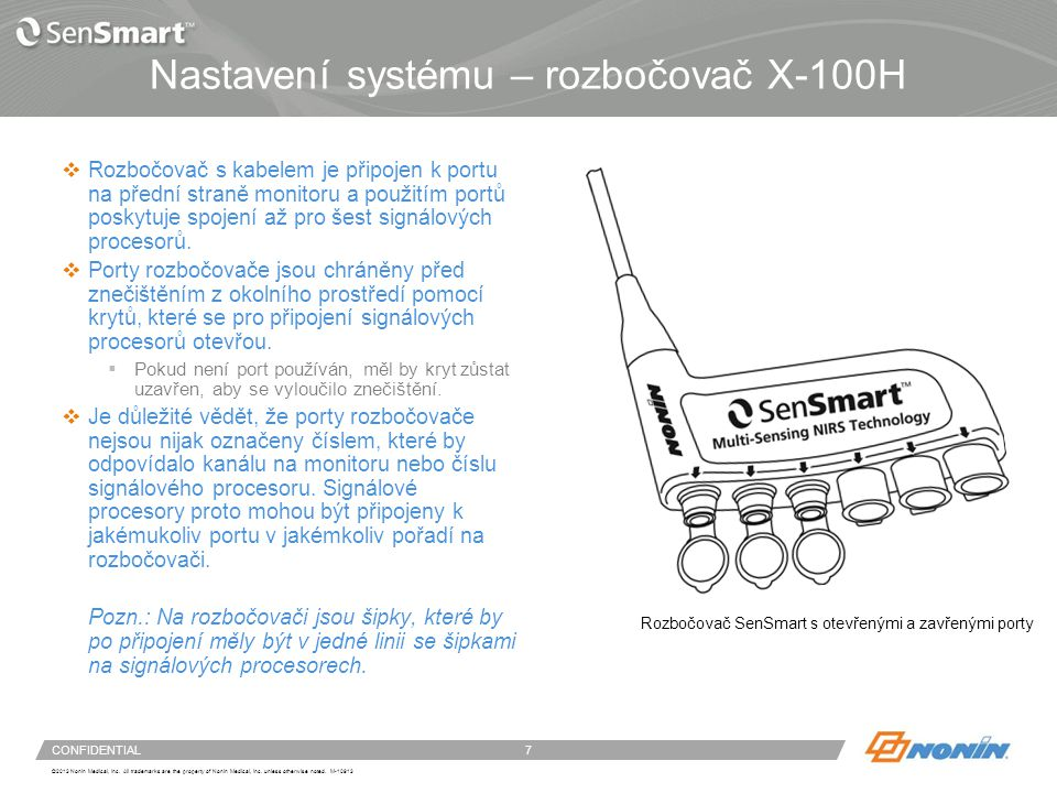 Rozbočovač X-100H – připojení a odpojení