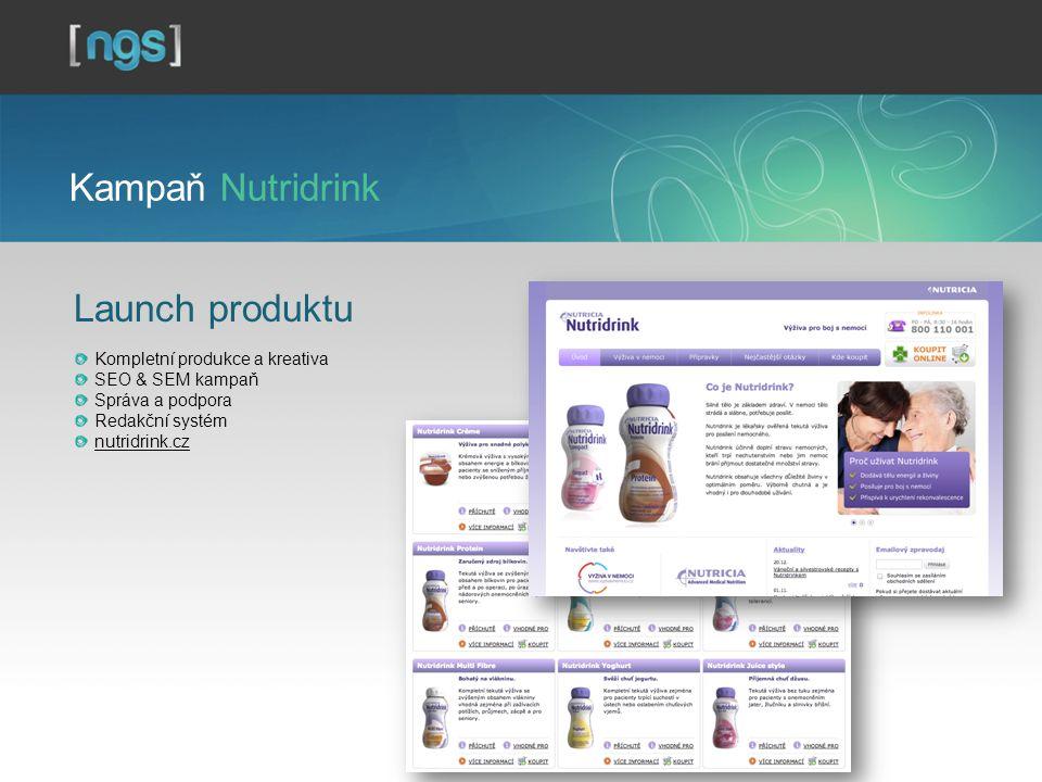 Kampaň Nutridrink Launch produktu Kompletní produkce a kreativa