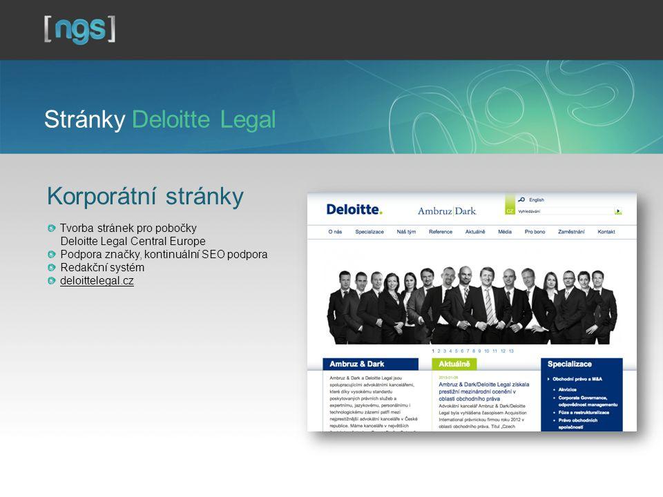 Stránky Deloitte Legal