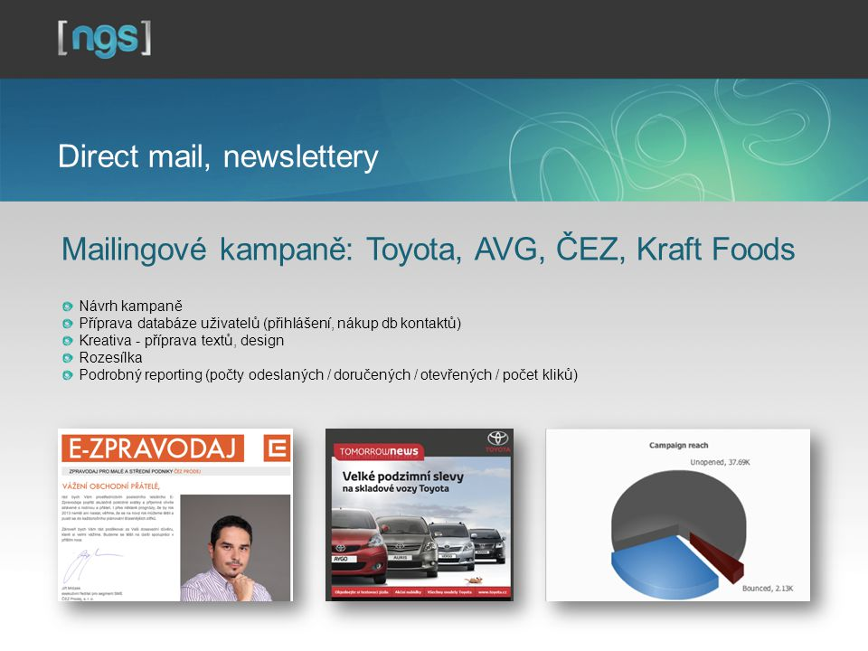 Direct mail, newslettery