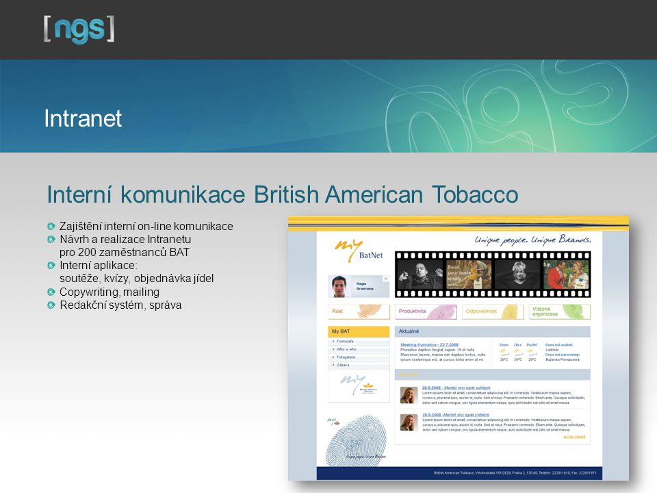 Interní komunikace British American Tobacco