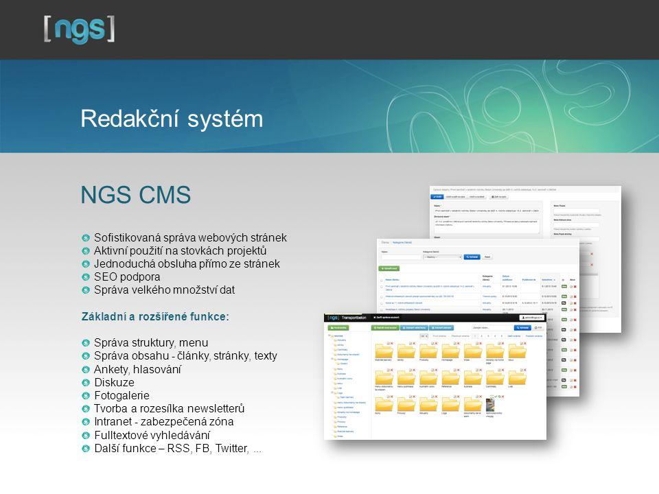 Redakční systém NGS CMS Sofistikovaná správa webových stránek