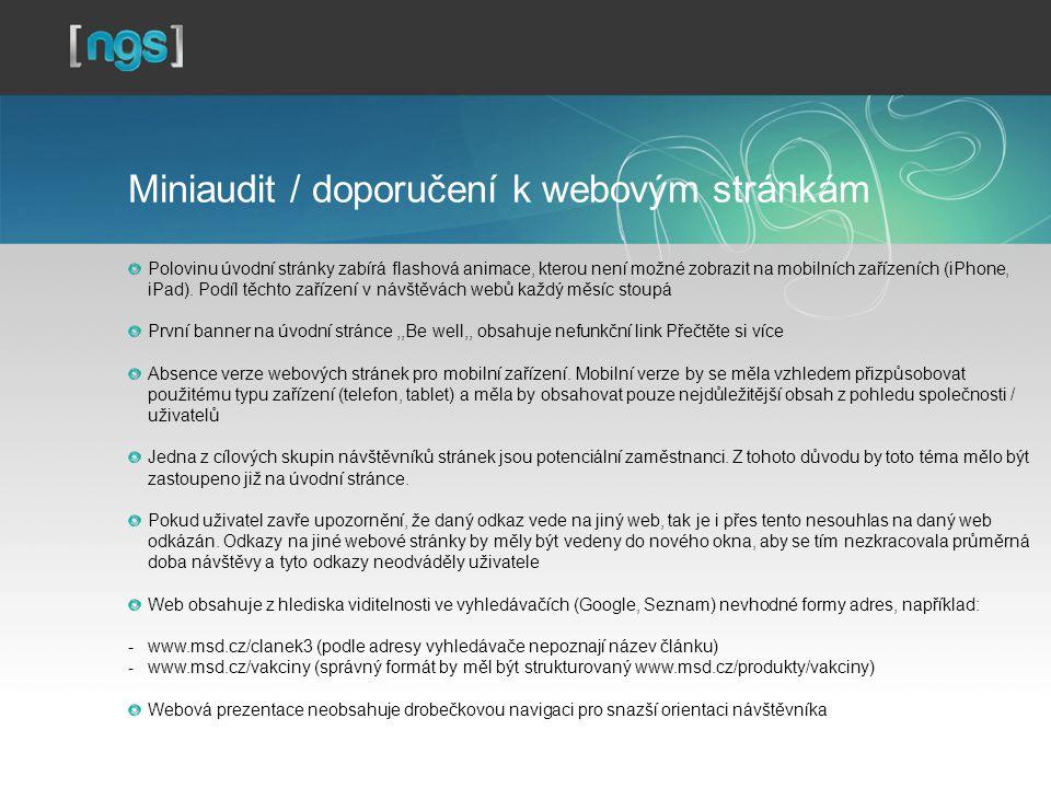 Miniaudit / doporučení k webovým stránkám