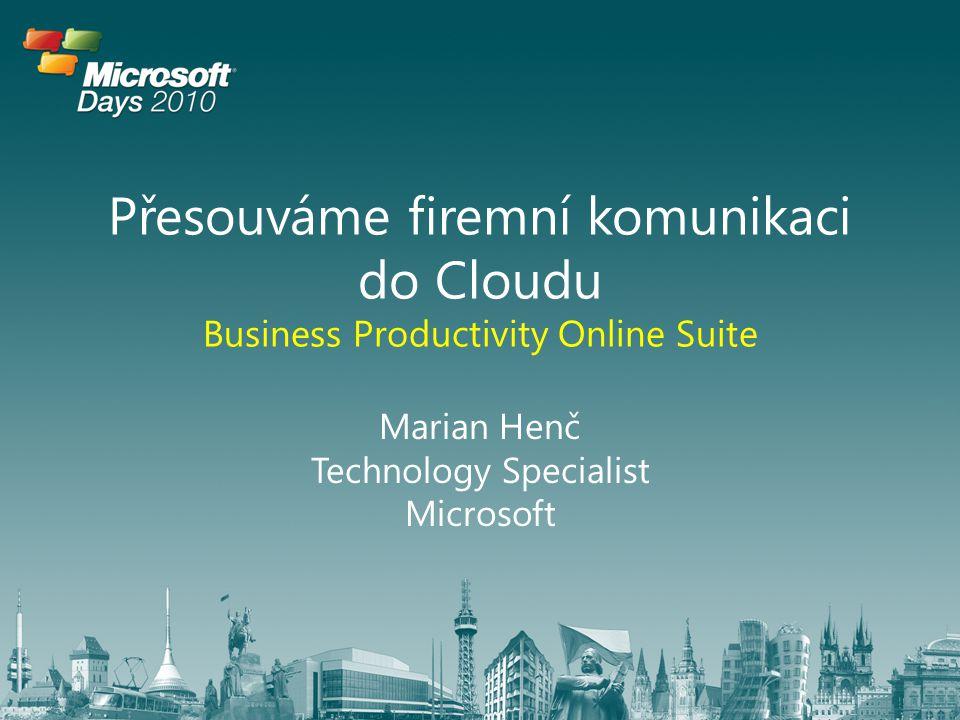 Marian Henč Technology Specialist Microsoft
