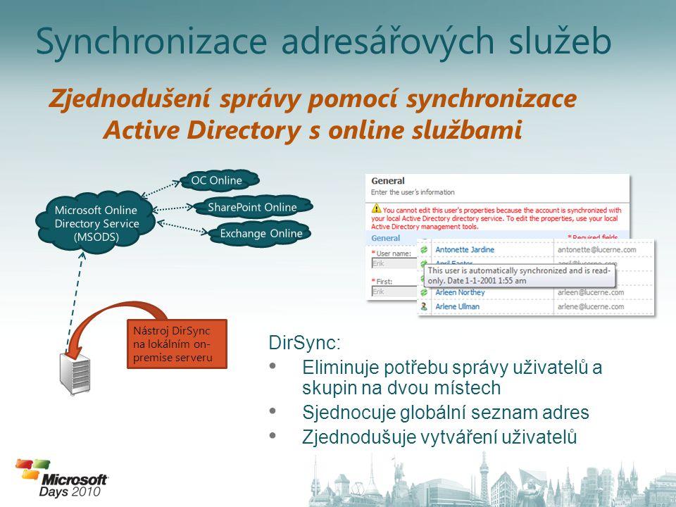 Synchronizace adresářových služeb