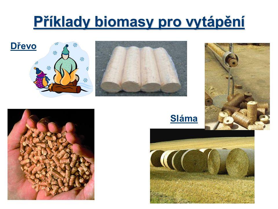 Příklady biomasy pro vytápění
