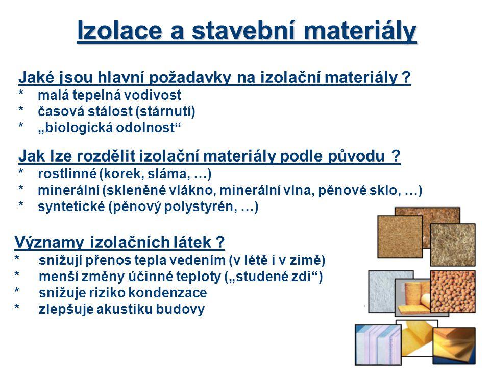 Izolace a stavební materiály