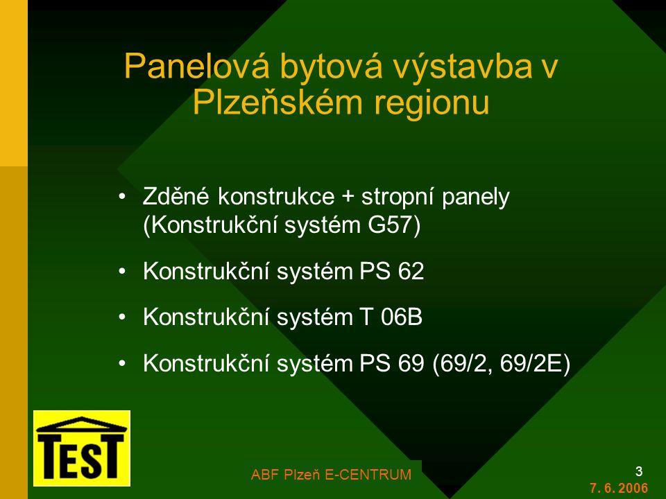 Panelová bytová výstavba v Plzeňském regionu