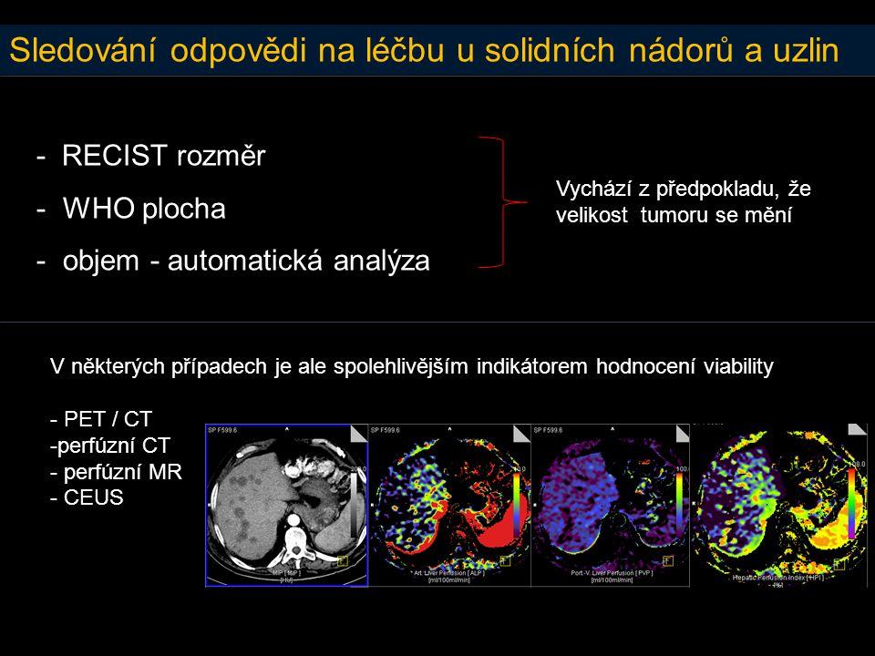 Sledování odpovědi na léčbu u solidních nádorů a uzlin