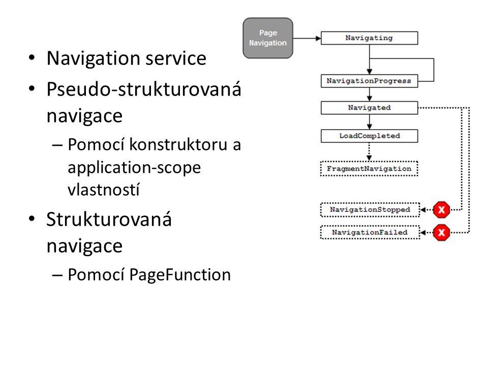 Pseudo-strukturovaná navigace
