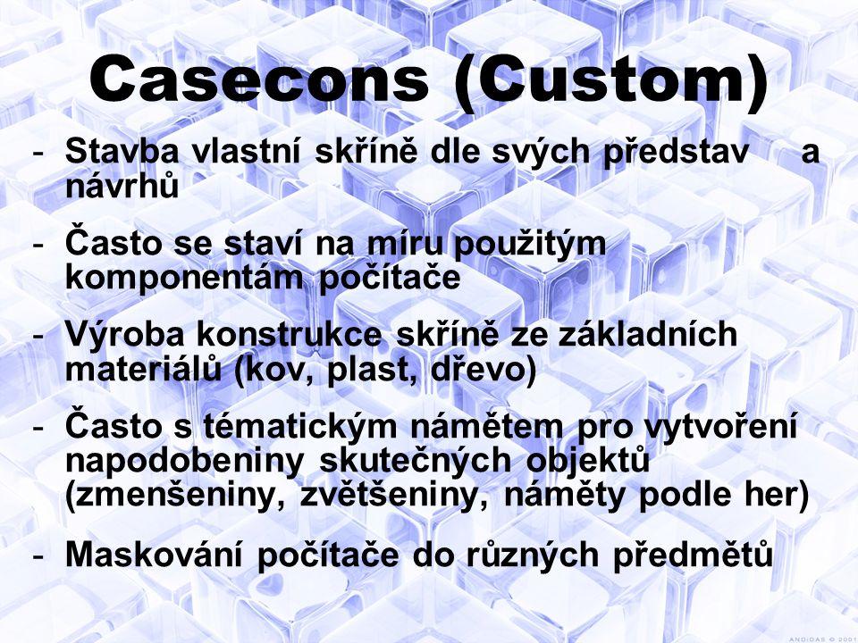 Casecons (Custom) Stavba vlastní skříně dle svých představ a návrhů