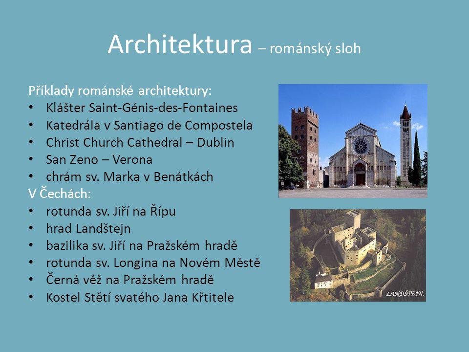 Architektura – románský sloh