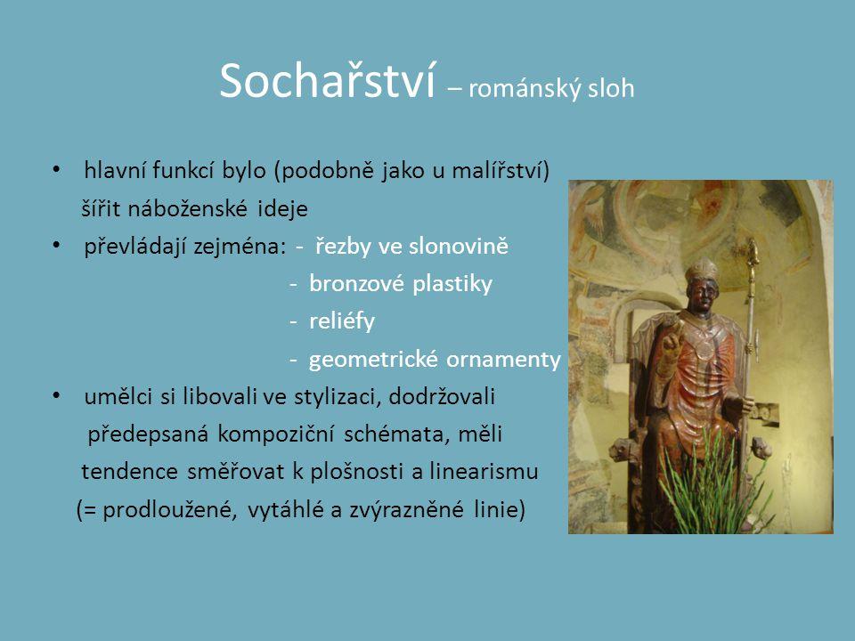 Sochařství – románský sloh