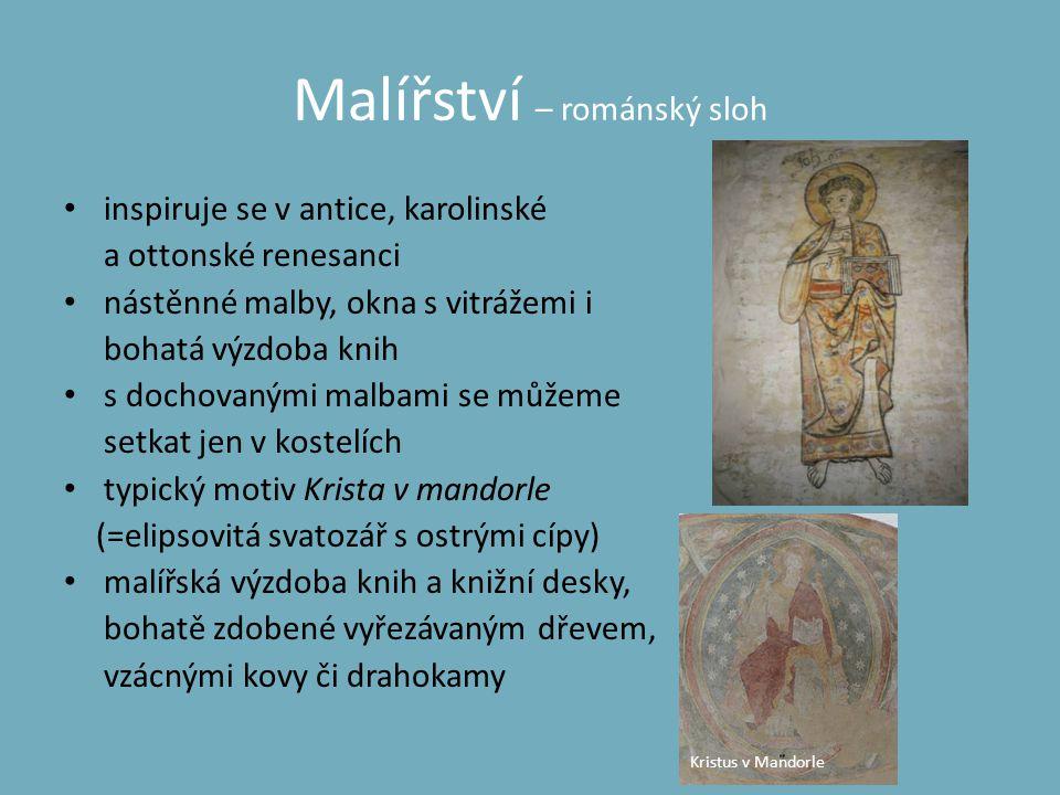 Malířství – románský sloh