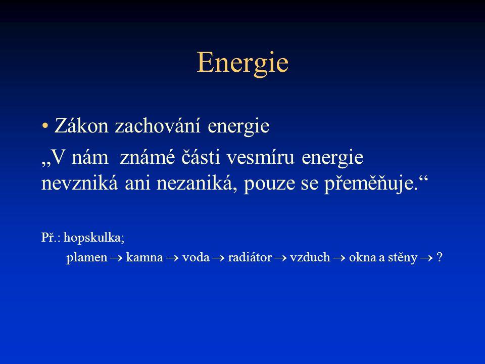 Energie Zákon zachování energie
