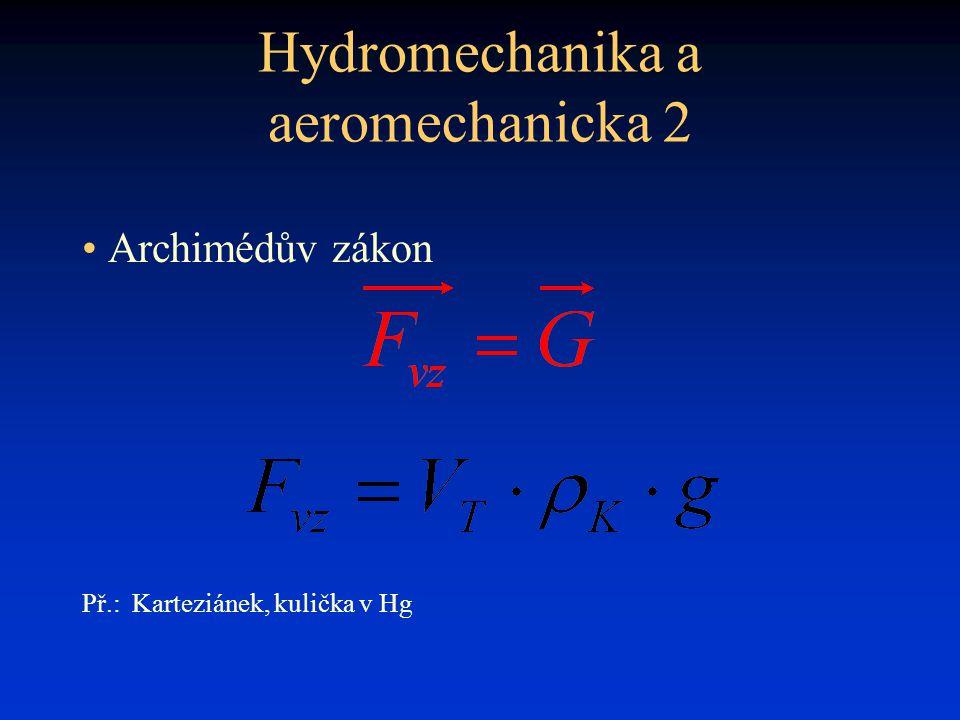 Hydromechanika a aeromechanicka 2