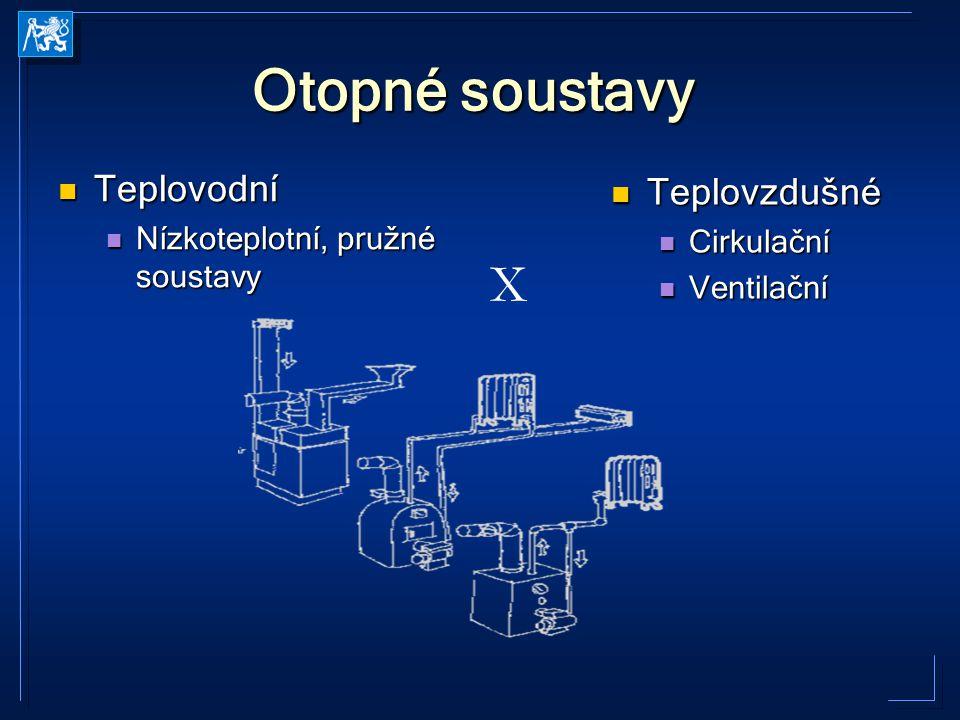 Otopné soustavy X Teplovodní Teplovzdušné